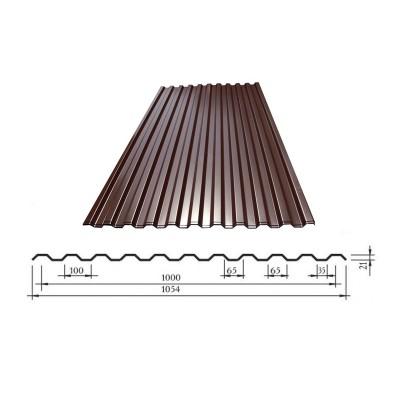 Профнастил С-21 Ral 8017 (корич.) 1,05 м.х2 м.
