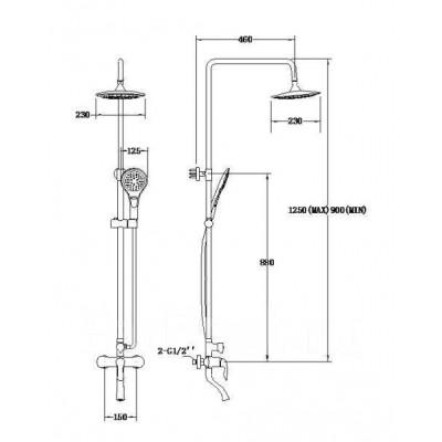 Душевой гарнитур SSWW FT13137