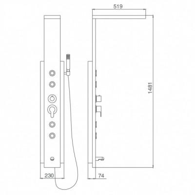 Душевая панель SSWW FT93159MP
