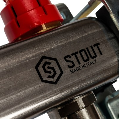Коллектор распределительный Stout SMS 0907 000013 на 13 контуров в сборе с расходомерами