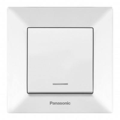 Выключатель Panasonic Arkedia WMTC00022WH-RES одноклавишный с подсветкой белый