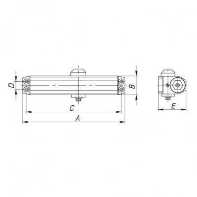 Доводчик дверной Punto SD-2020 BR коричневый 25-45 кг