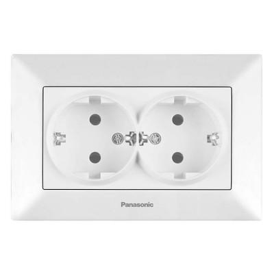 Розетка Panasonic Arkedia WMTC02052WH-RES двухместная белая