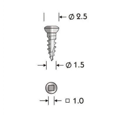 Конмет Винт 2,0 х 7 мм самонарезающийся для фиксации мембран