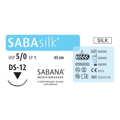 Шовный материал Sabana Medizinbedarf Sabasilk S-43163-45