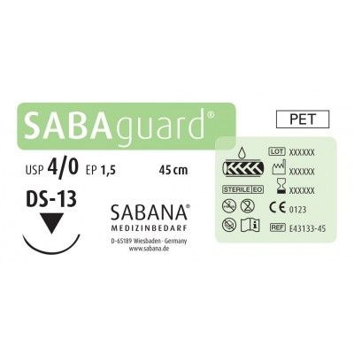 Материал шовный Sabana Medizinbedarf Sabaguard E-43163-45