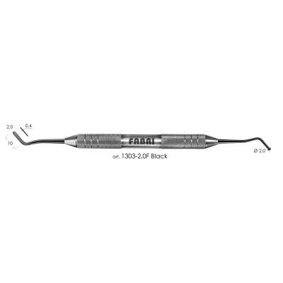 Штопфер-гладилка FABRI средняя, шарик 2,0мм, покрытие Tin Black