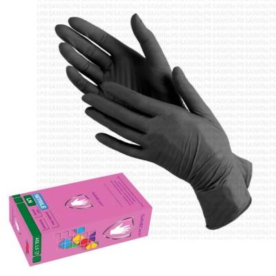 Перчатки Safe&Care нитриловые, размер S, черные, 100шт