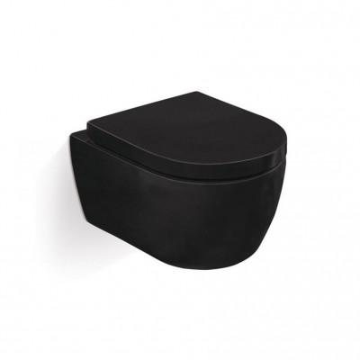 Подвесной унитаз SSWW СТ2038 безободковый black