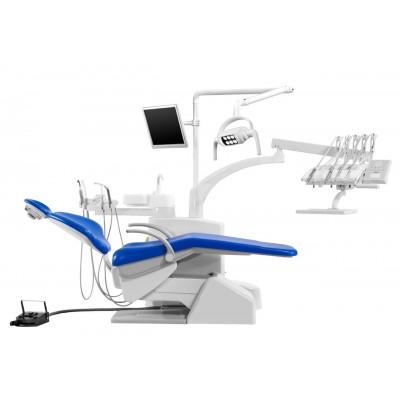 Стоматологическая установка Siger S30 верхняя подача, под вакуумную помпу, цвет кобальтовый
