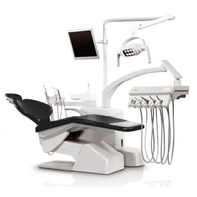 Стоматологическая установка Siger S30 верхняя подача, под вакуумную помпу, цвет чёрный матовый