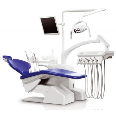 Стоматологическая установка Siger S30i верхняя подача, эжекторного типа, цвет чёрный матовый