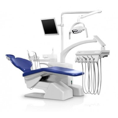Стоматологическая установка Siger S30i верхняя подача, эжекторного типа, цвет королевский синий