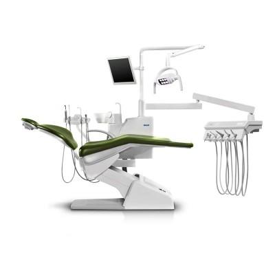 Стоматологическая установка Siger S30i верхняя подача, эжекторного типа, цвет красное море