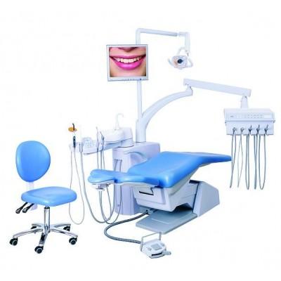 Стоматологическая установка Siger S30 верхняя подача, под вакуумную помпу, цвет бирюзовый