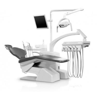 Стоматологическая установка Siger S30i верхняя подача, эжекторного типа, цвет серебристый перламутр