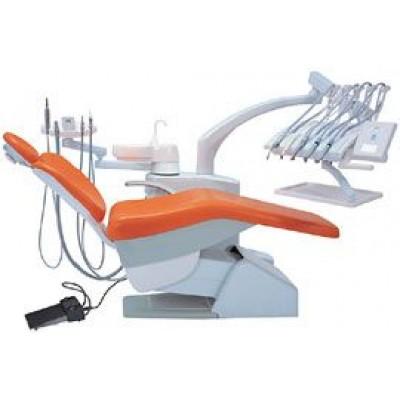 Стоматологическая установка Siger S30 верхняя подача, под вакуумную помпу, цвет соломенный