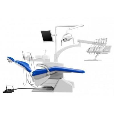 Стоматологическая установка Siger S30i верхняя подача, эжекторного типа, цвет искристый красный