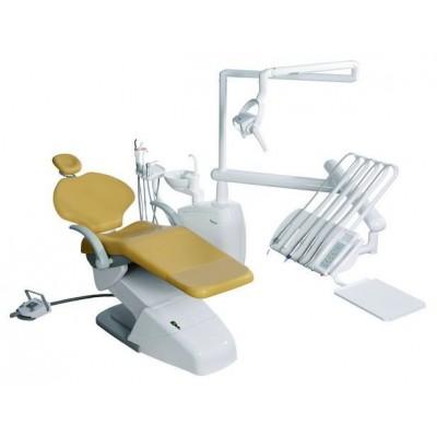 Стоматологическая установка Siger U100 верхняя подача, под вакуумную помпу, цвет серебристый перламутр